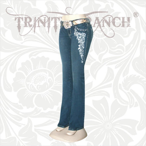 JN-TR001 Stretchy Hip Hugger Denim Trinity Ranch Jeans