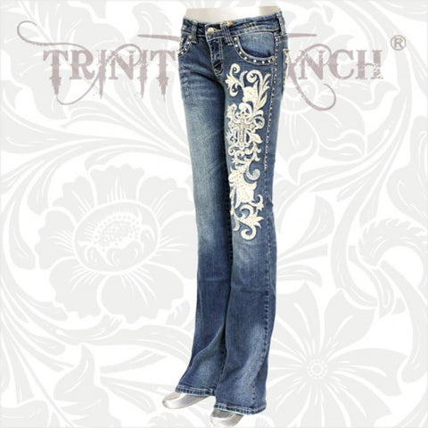 JN-TR004 Stretchy Hip Hugger Denim Trinity Ranch Jeans
