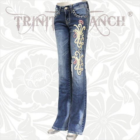 JN-TR005 Stretchy Hip Hugger Denim Trinity Ranch Jeans