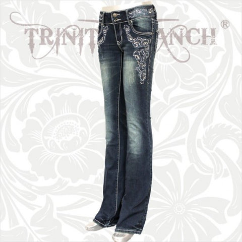 JN-TR007 Stretchy Hip Hugger Denim Trinity Ranch Jeans