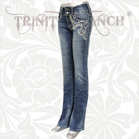 JN-TR010 Stretchy Hip Hugger Denim Trinity Ranch Jeans