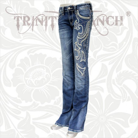 JN-TR011 Stretchy Hip Hugger Denim Trinity Ranch Jeans