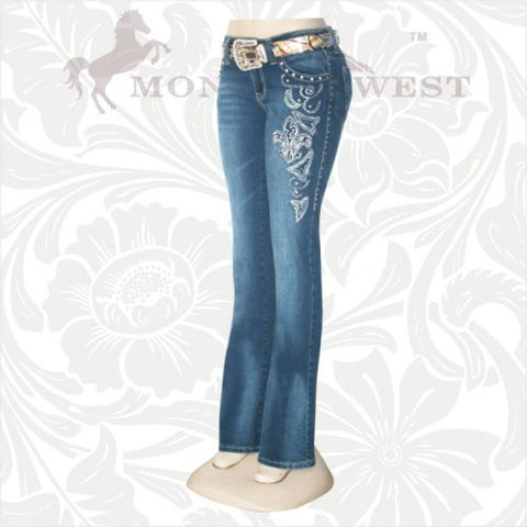 JN-TR014 Stretchy Hip Hugger Denim Trinity Ranch Jeans
