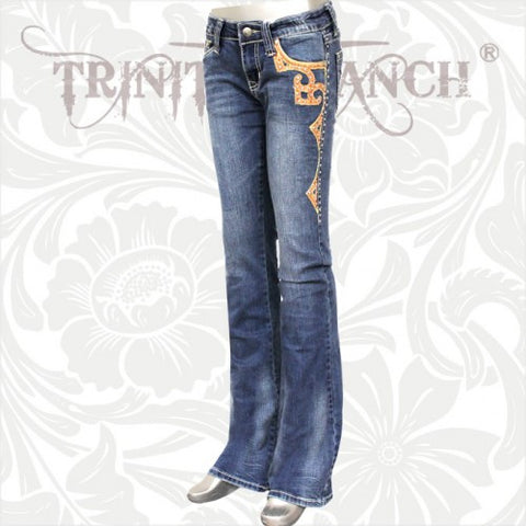 JN-TR017 Stretchy Hip Hugger Denim Trinity Ranch Jeans
