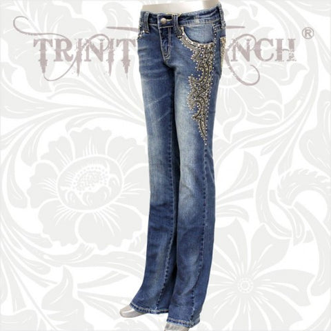 JN-TR018 Stretchy Hip Hugger Denim Trinity Ranch Jeans