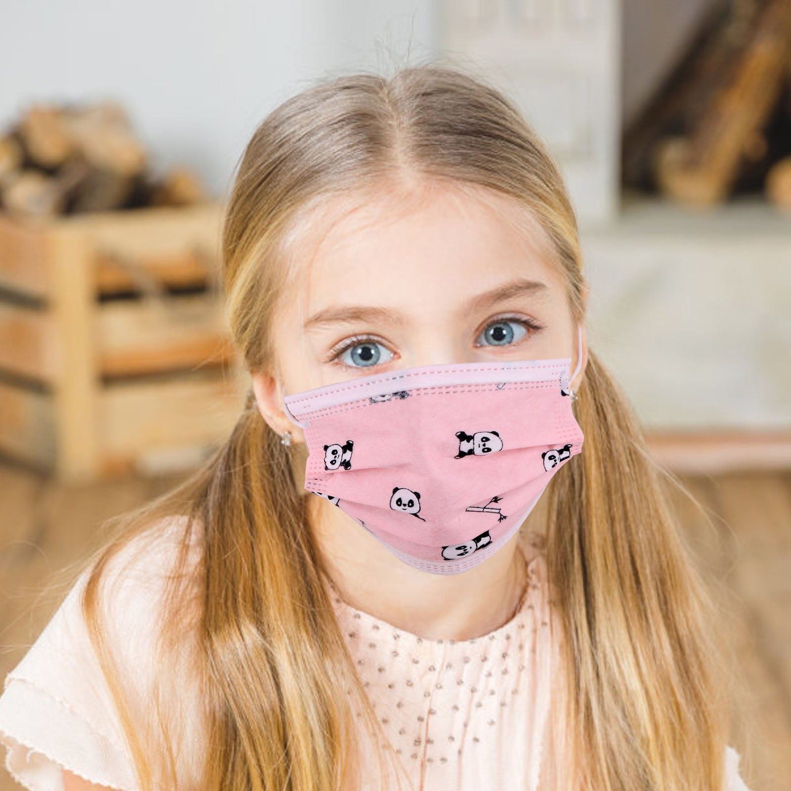 KD-FMPK1-20 American Bling Kids 3 Ply Disposable Pink Panda Face Mask Non-Medical (20pcs/Box)