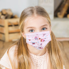 KD-FMWT5  American Bling Kids 3 Ply Disposable Cutie Cow Print Face Mask Non-Medical (5pcs/Pack)