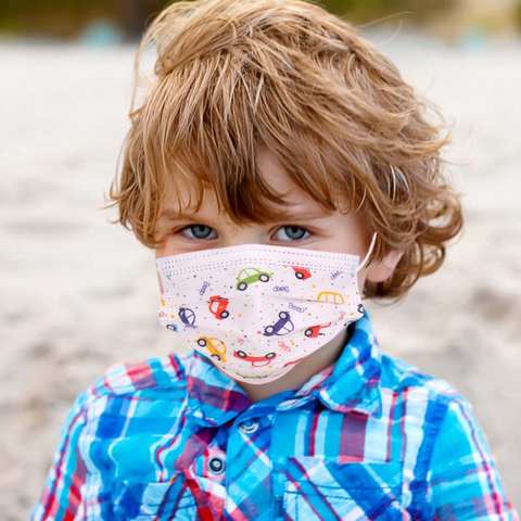 KD-FMWT  American Bling Kids 3 Ply Disposable Trucks Print Face Mask Non-Medical (5pcs/Pack)