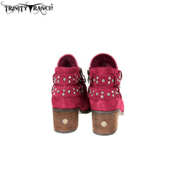 LBT-003  Trinity Ranch Western Leather Suede Booties Studs Collection