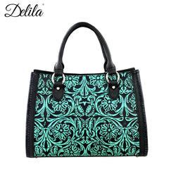 LEA-6016 Delila 100% Genuine Leather Tooled Collection