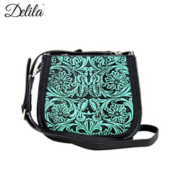 LEA-6018 Delila 100% Genuine Leather Tooled Collection