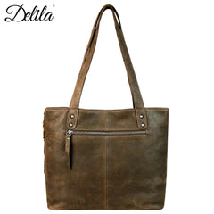 LEA-6028 Delila 100% Genuine Leather Hair-On Hide Collection Tote