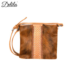 LEA-6039 Delila 100% Genuine Leather Hair-On Hide Collection Crossbody