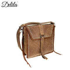 LEA-6045 Delila 100% Genuine Leather Collection Messenger Bag