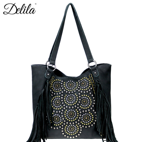 LEA-6046 Delila 100% Genuine Leather Collection Tote