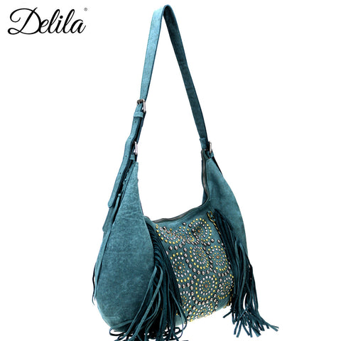 LEA-6048 Delila 100% Genuine Leather Collection Hobo