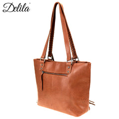 LEA-6049 Delila 100% Genuine Leather Hair-On Hide Collection Tote