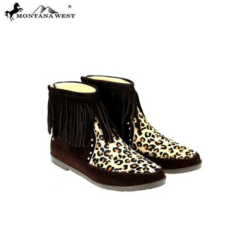MBT-1902 Montana West Western Booties Genuine Hair Calf - By Case
