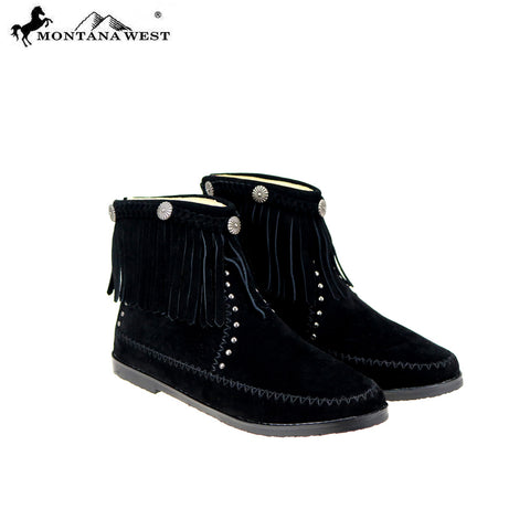 MBT-1906  Montana West Western Booties - Black By Case
