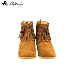 MBT-1906  Montana West Western Booties - Brown By Case