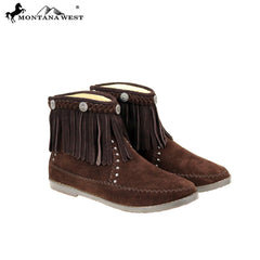 MBT-1906  Montana West Western Booties - Coffee By Case