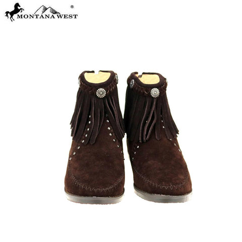 MBT-1906  Montana West Western Booties - Coffee By Size