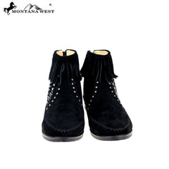 MBT-1907  Montana West Western Booties - Black By Size