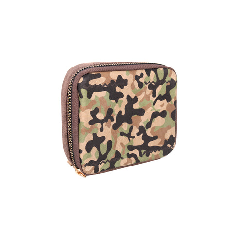 MW1003-193 Montana West Western Design Pill Box Travel Organizer/ Zippered Case Camo Print