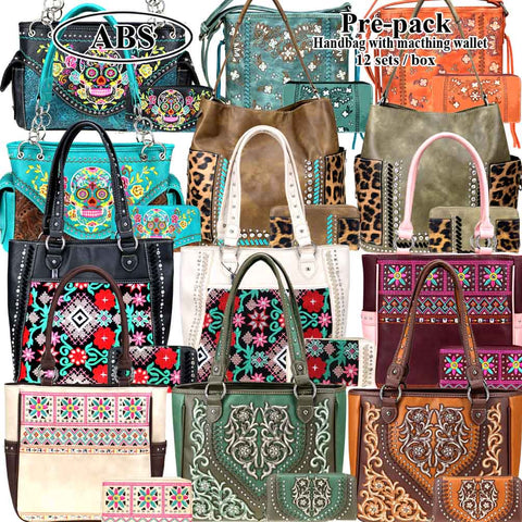 ABS-053W  American Bling Pre-pack Set (Handbag and Crossbody)
