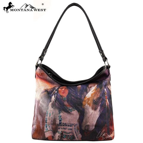 MW153-121 Montana West Horse Art Handbag-Laurie Prindle Collection