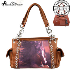 MW155G-8085 Montana West Horse Art Concealed Handgun Handbag-Laurie Prindle Collection