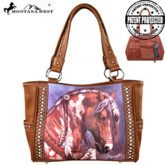 MW156G-8248 Montana West Horse Art Wallet-Laurie prindle Collection