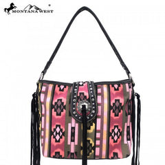 MW16-8316 Montana West Western Aztec Collection Fringe Handbag