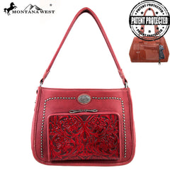 MW169G-116 Montana West Concealed Handgun Collection Handbag with Built-in Wallet