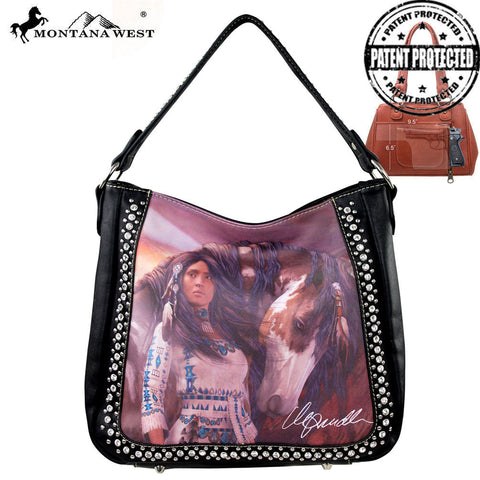 MW170G-8256 Montana West Horse Art Concealed Handgun Handbag-Laurie Prindle Collection