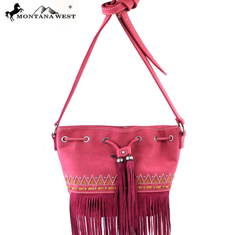 MW195-8111 Montana West Fringe Collection Messenger Bag