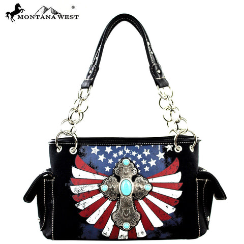 MW257-8085 Montana West Spiritual/Patriotic Collection Satchel
