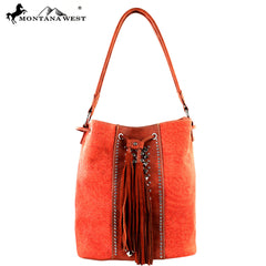 MW288-8108 Montana West Fringe Collection Handbag