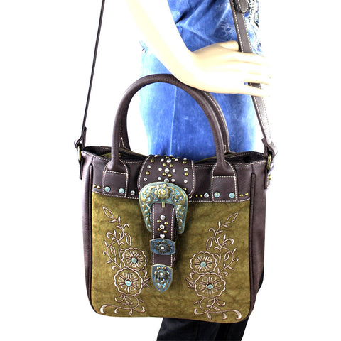 MW302-8561 Montana West Buckle Collection Handbag