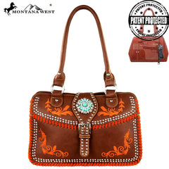 MW313-8247  Montana West Concho Collection Handbag