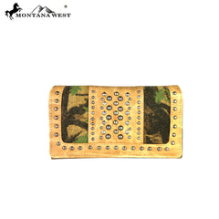 MW361-W010 Montana West Camo Collection Secretary Style Wallet