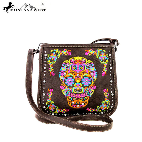MW326-8287 Montana West Sugar Skull Collection Crossbody