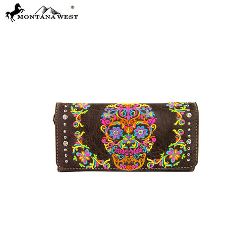 MW326-W002 Montana West Sugar Skull Collection Wallet