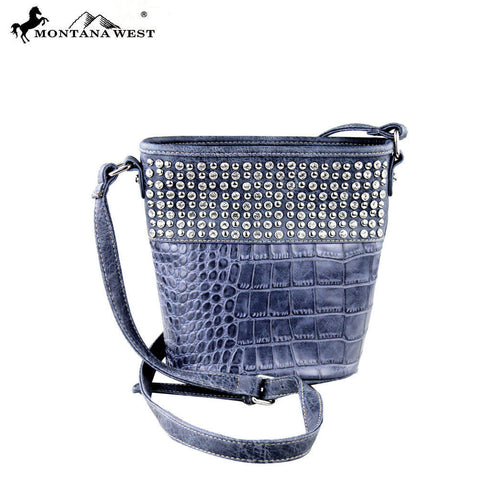 MW333-8287 Montana West Bling Bling Collection Bucket Shaped Crossbody