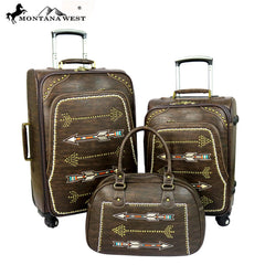 MW358-L1/2/3 Montana West Arrow Collection 3 PC Luggage Set