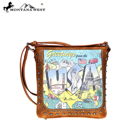 MW378-8287 Montana West USA Collection Crossbody Bag
