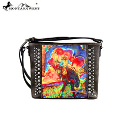 MW392-8287 Montana West Horse Art Crossbody - Janene Grende Collection