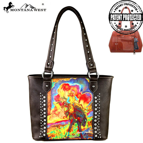 MW392G-8014 Montana West Horse Art Concealed Handgun Tote - Janene Grende Collection