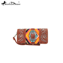 MW43-W002 Montana West Aztec Collection Wallet