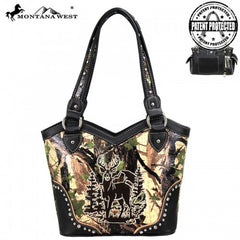 MW44G-8096 Montana West Concealed Handgun Camo Collection Handbag